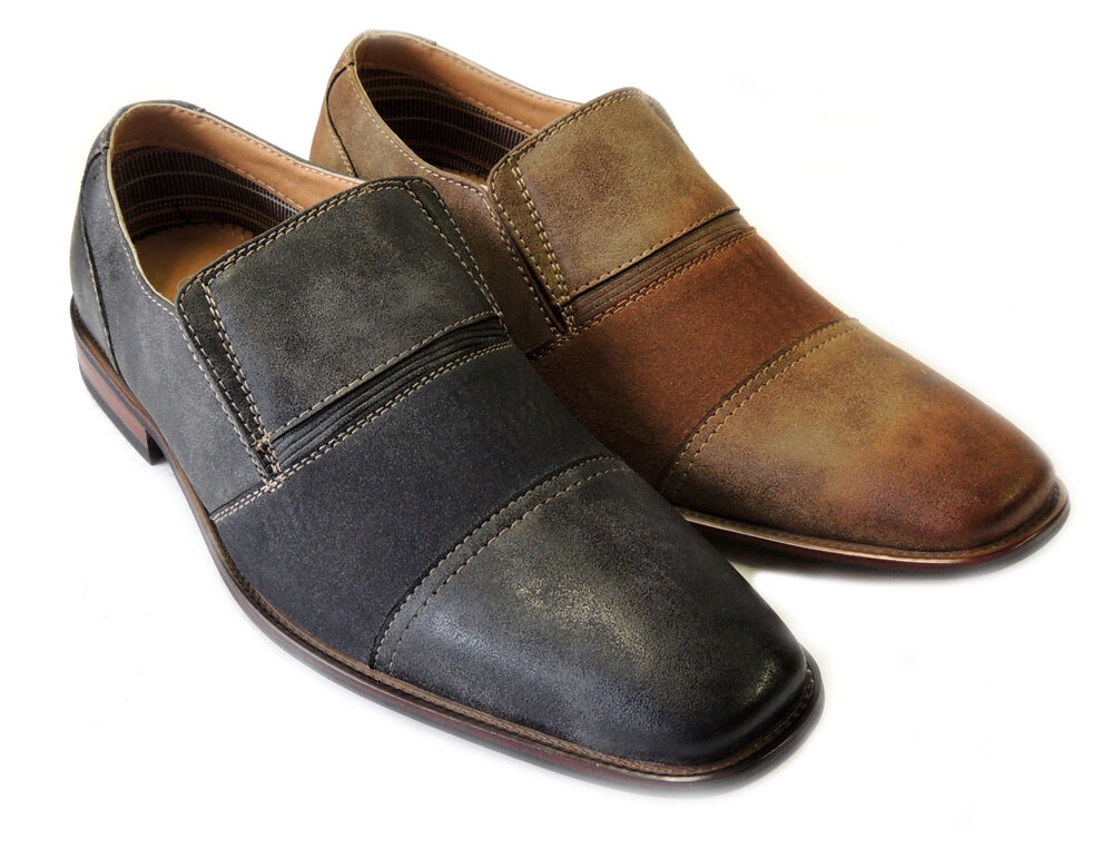NEW *FERRO ALDO* FASHION MENS LEATHER LINED DRESS SHOES LOAFERS SLIP ON //2COLORS
