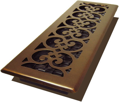 Oil Rubbed Bronze Scroll Design 2 Quot X 10 Quot Floor Register