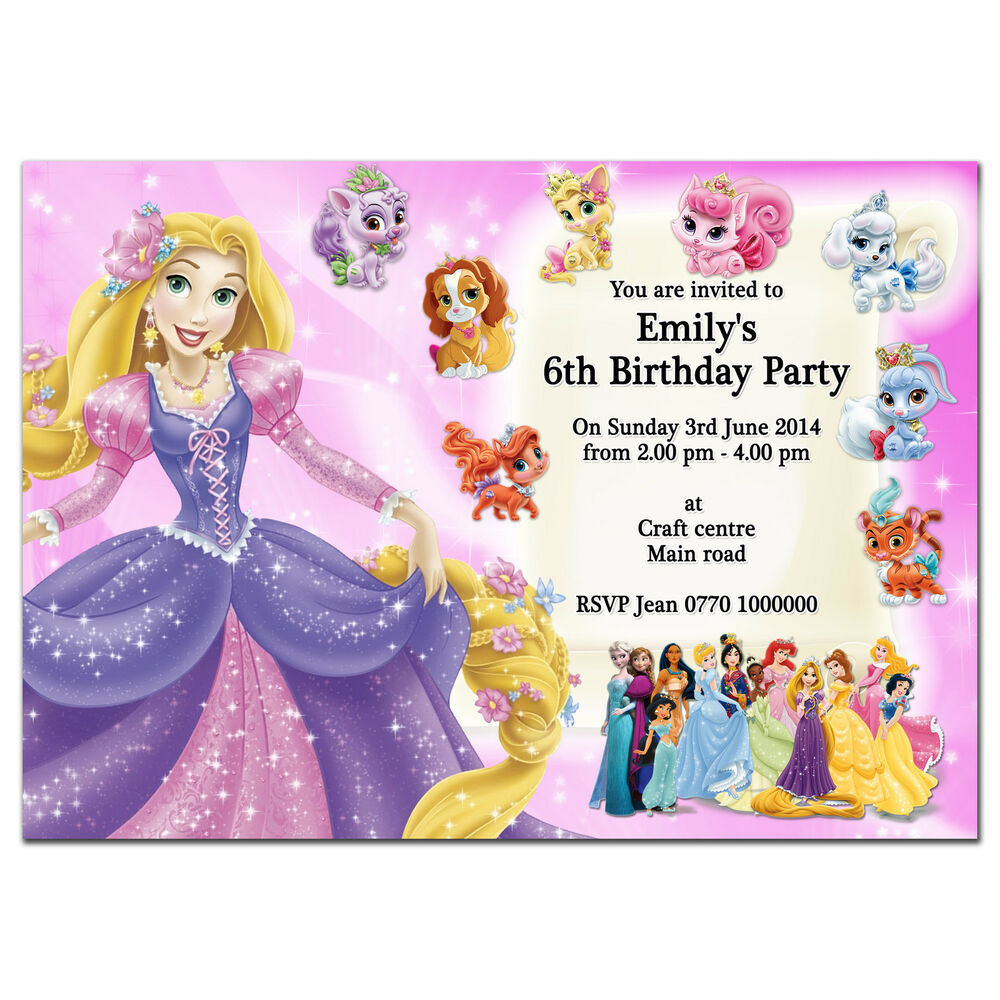 I12/pink Personalised Birthday Party Invitations Invites