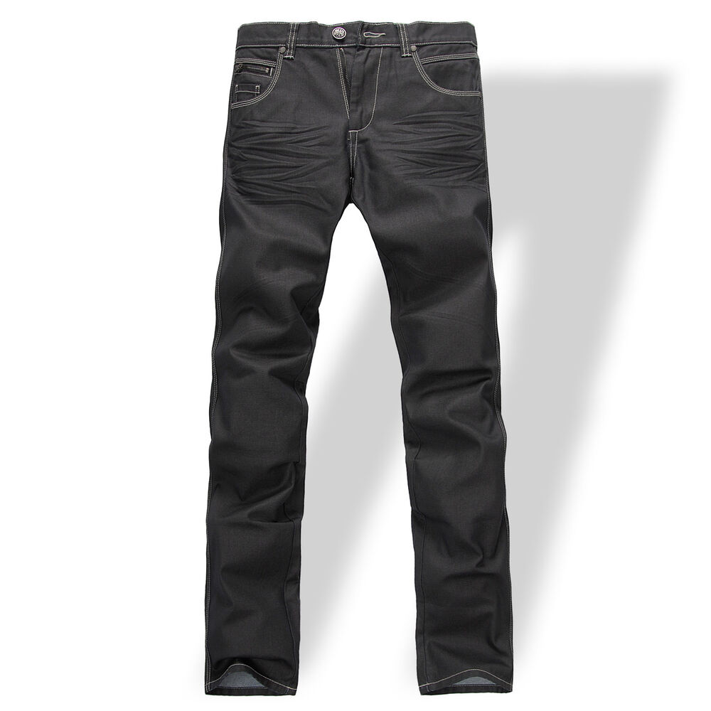 new mens foxjeans denim men 39 s black jeans size 30 32 34 36 40 42 ebay. Black Bedroom Furniture Sets. Home Design Ideas