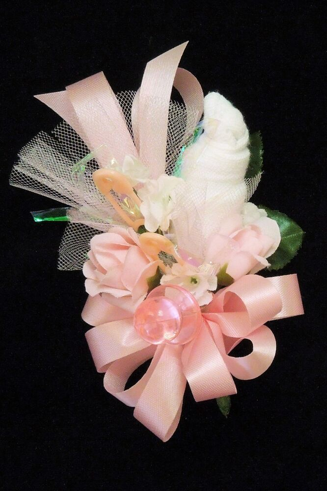 baby shower corsage for mother grandma hostess pink handmade ebay