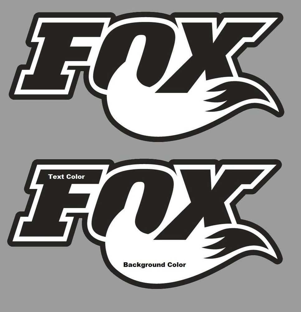Fox Stickers Decals set 2 Graphics Fox Racing MTB DH ... - photo#18