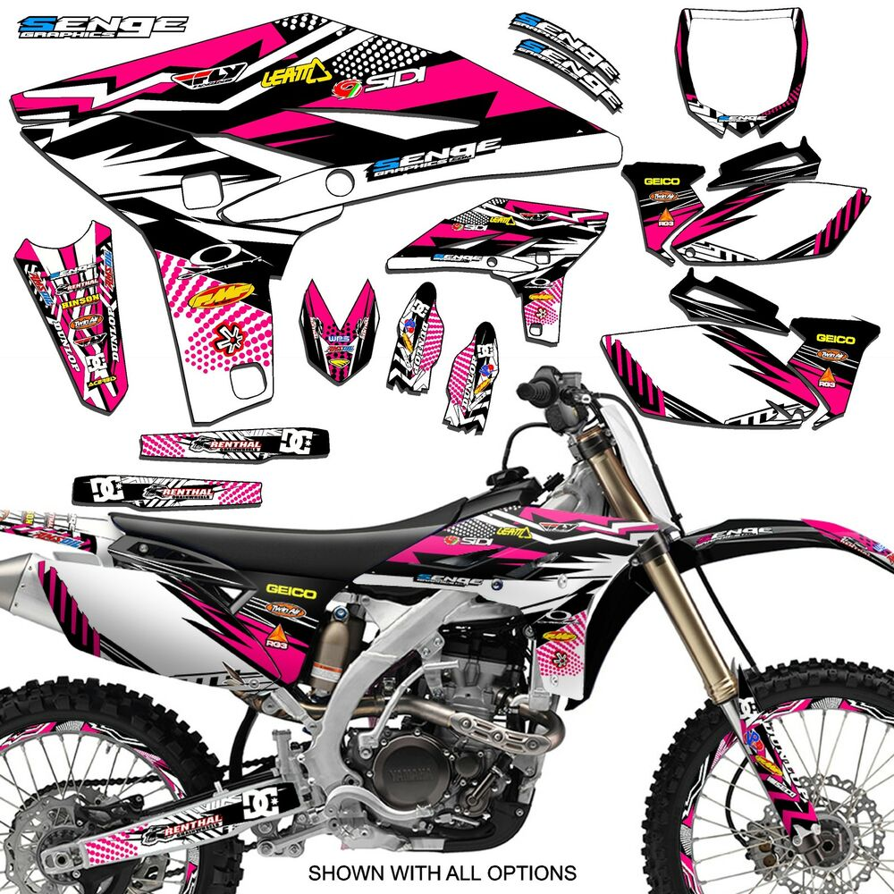 2005 2006 2007 yz 125 250 graphics kit yamaha yz125 yz250 deco decals stickers ebay. Black Bedroom Furniture Sets. Home Design Ideas