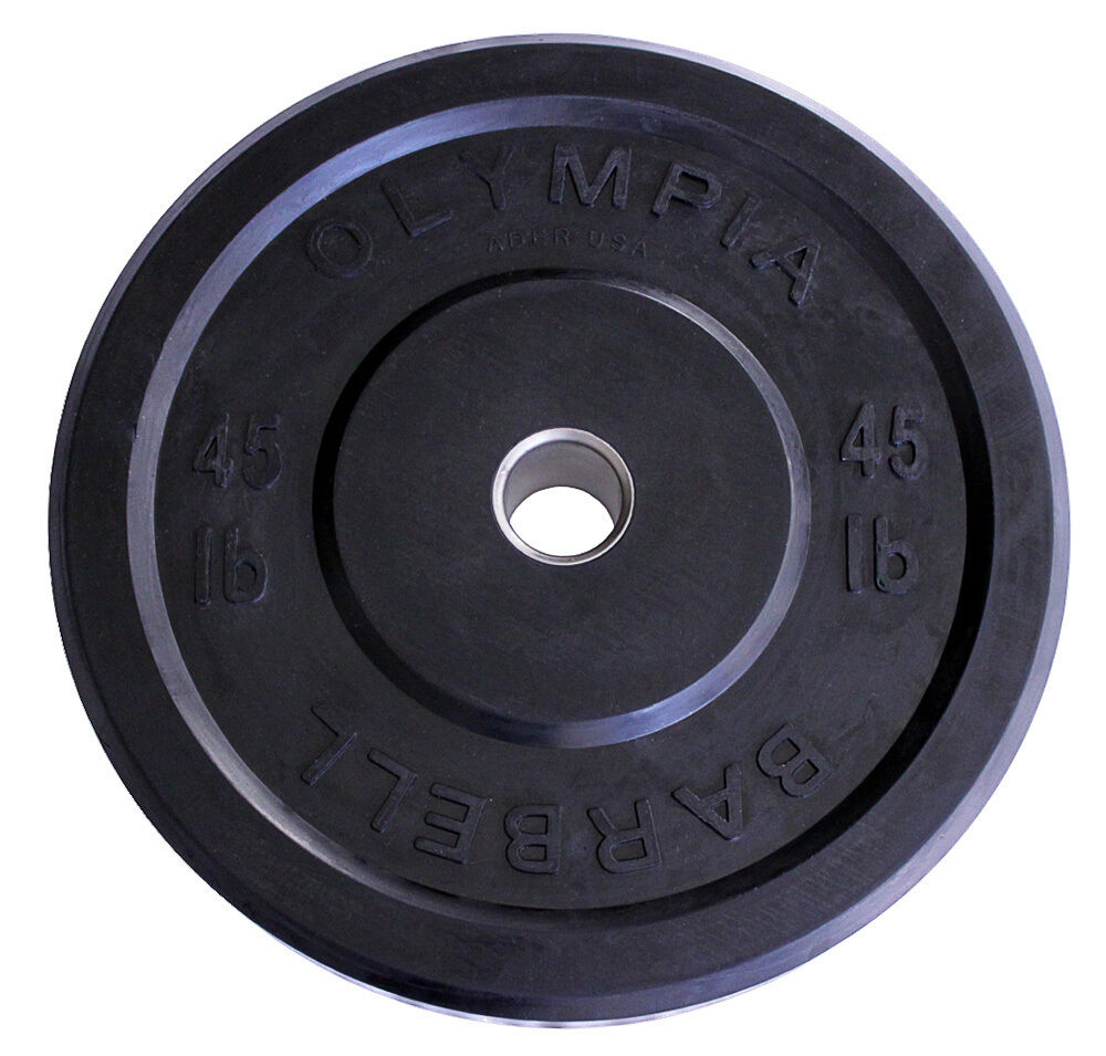 45lb Pair Olympic Rubber Bumper Weight Plates Sro Ebay