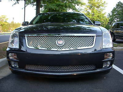2005 2006 2007 cadillac cady sts dual mesh grille grill 05. Black Bedroom Furniture Sets. Home Design Ideas
