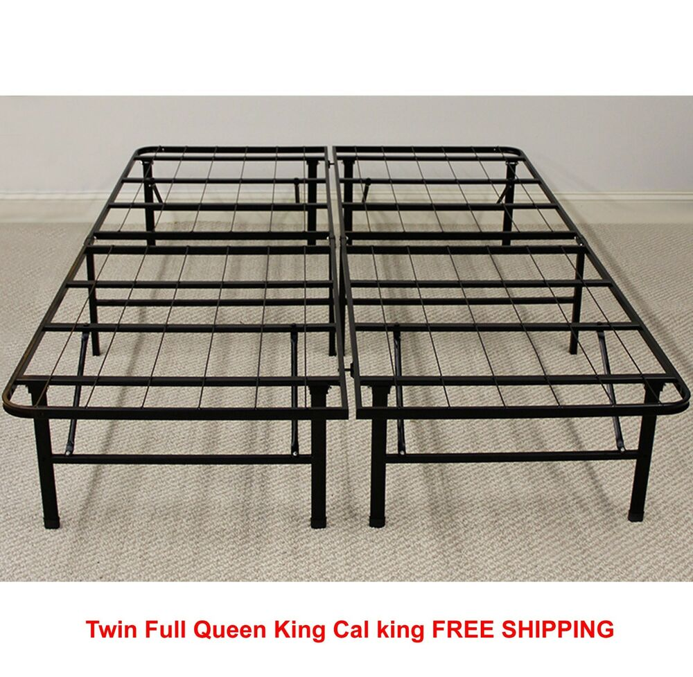 Platform metal bed frame twin full queen king foldable no Metal bed frame twin
