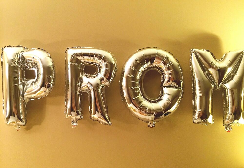 Prom new party mylar foil balloons letter alphabet for Decoration word