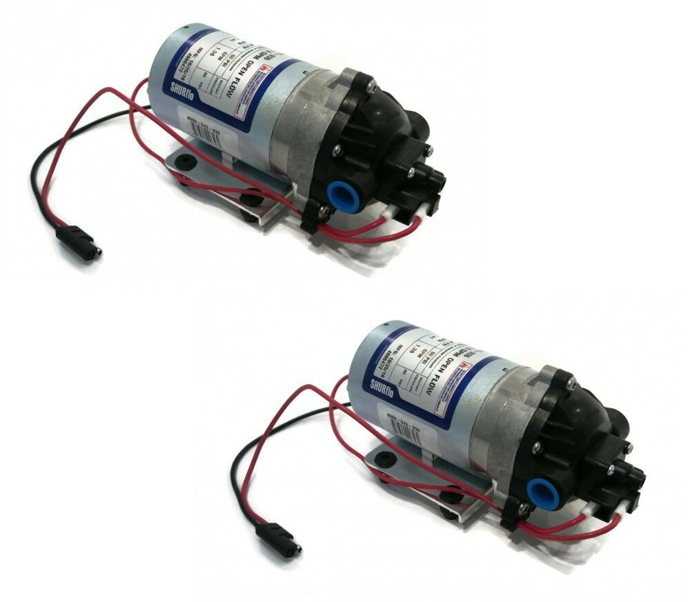2  New Shurflo 12v Volt Demand Water Pumps Camper Rv Trailer Motorhome Boat