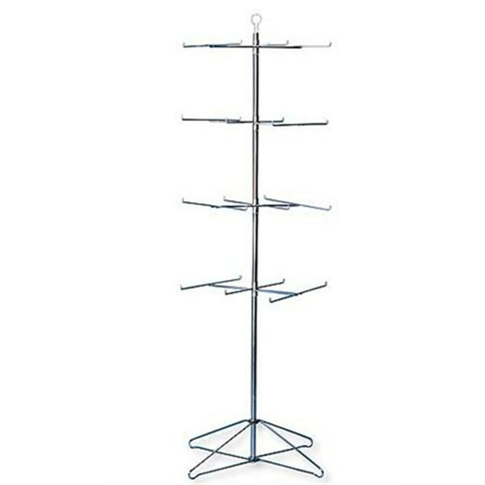 retail display hanging floor spinner rack 4 tier wire
