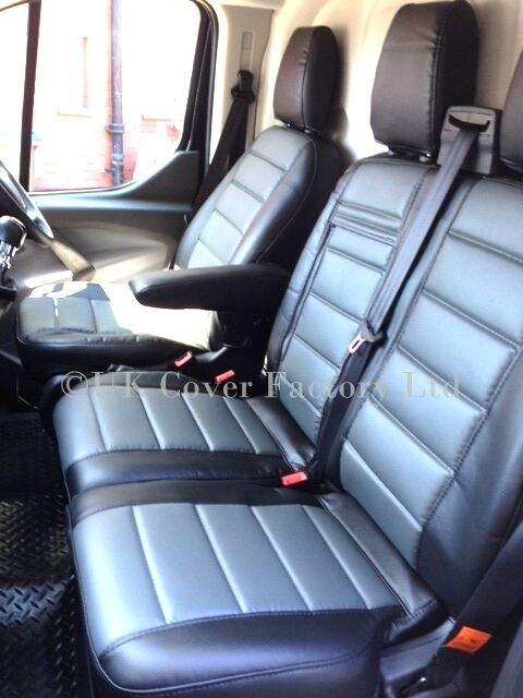 Ford Transit Home >> NEW FORD TRANSIT CUSTOM VAN SEAT COVERS GREY PVC LEATHER A120C | eBay