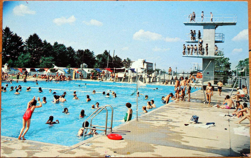 1970s Chrome Postcard Penn State University Swimming Pool State College Pa Ebay