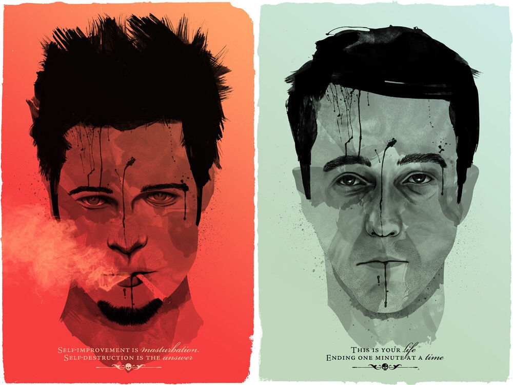 film analysis of the movie fight club What's the difference between fight club the book and fight club the movie  in the movie the narrator meets tyler durden on the beach as he is falling.