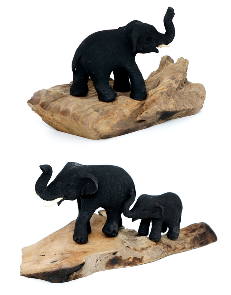 elefant mutter mit kind baby aus holz unikate figur. Black Bedroom Furniture Sets. Home Design Ideas