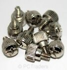 10 x PC Computer Case Thumb Screws 6-32 Toolless Modding Chrome