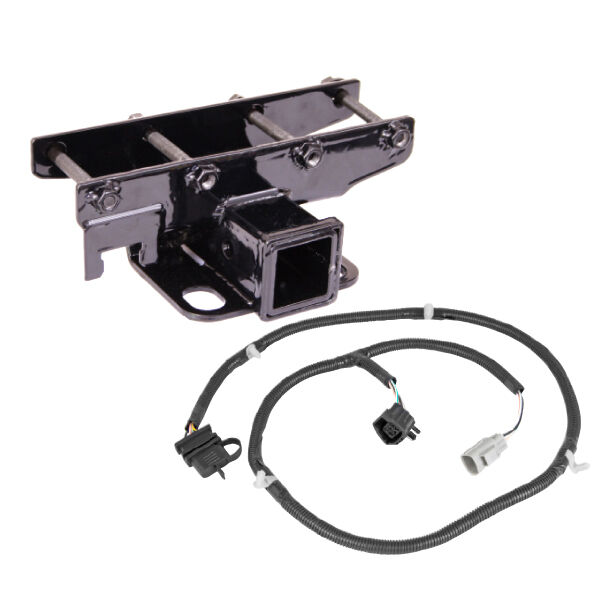 Trailer hitch kit quot receiver includes wiring harness jeep
