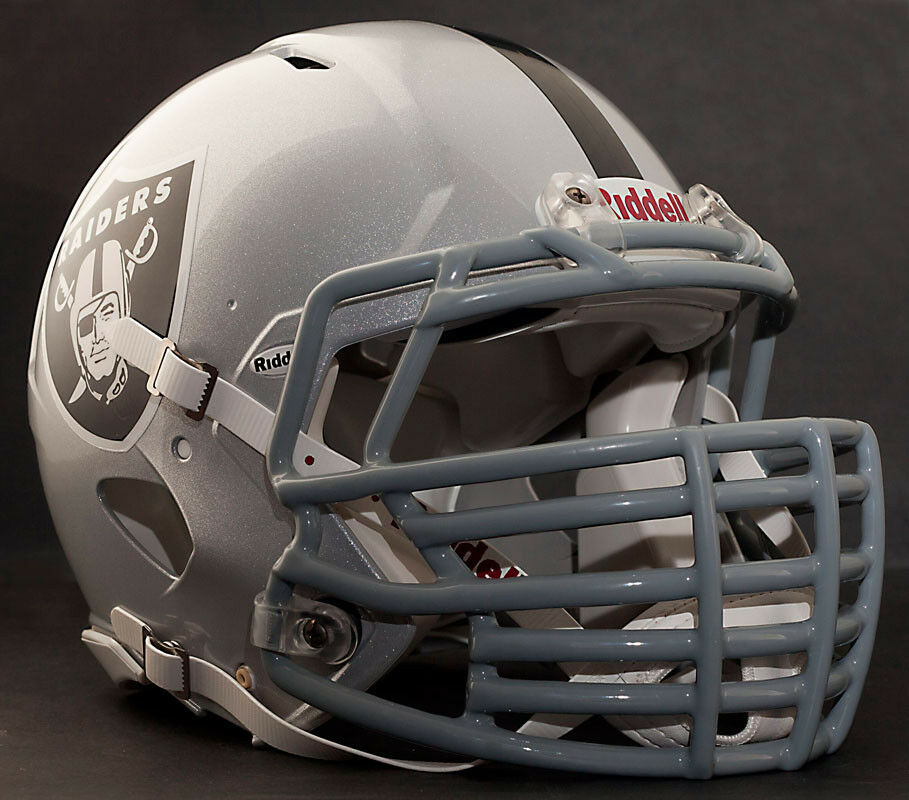 Football Helmet Grill : Custom oakland raiders nfl riddell revolution speed
