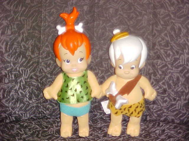 Pebbles And Bam Bam Plush Dolls From The Flintstones 1994