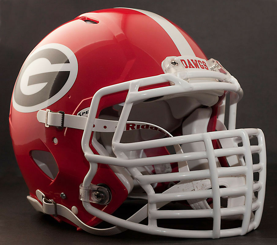 bulldog helmet custom georgia bulldogs riddell revolution speed 4736