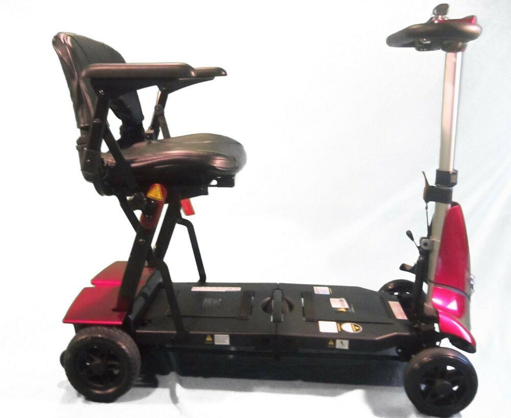 Red mobie folding mobility scooter travel compact for Mobility chair