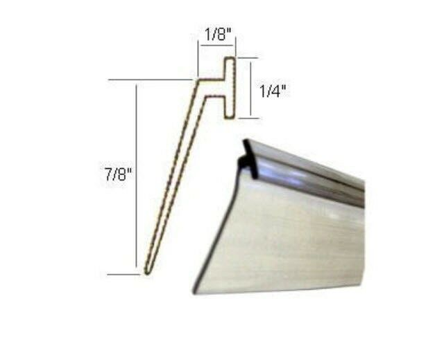 Angled Clear Vinyl Framed Shower Door Drip Sweep 84 In