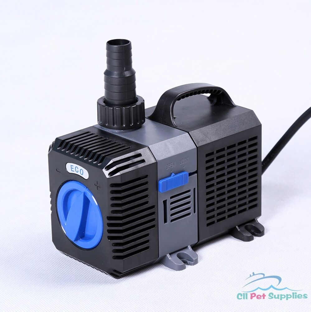 1375 gph pond pump adjustable submersible inline fountain for Fish pond pumps and filters