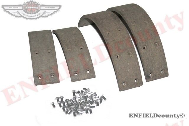 Brake Pad And Lining : New brake shoe pad lining kit set with rivets willys jeep