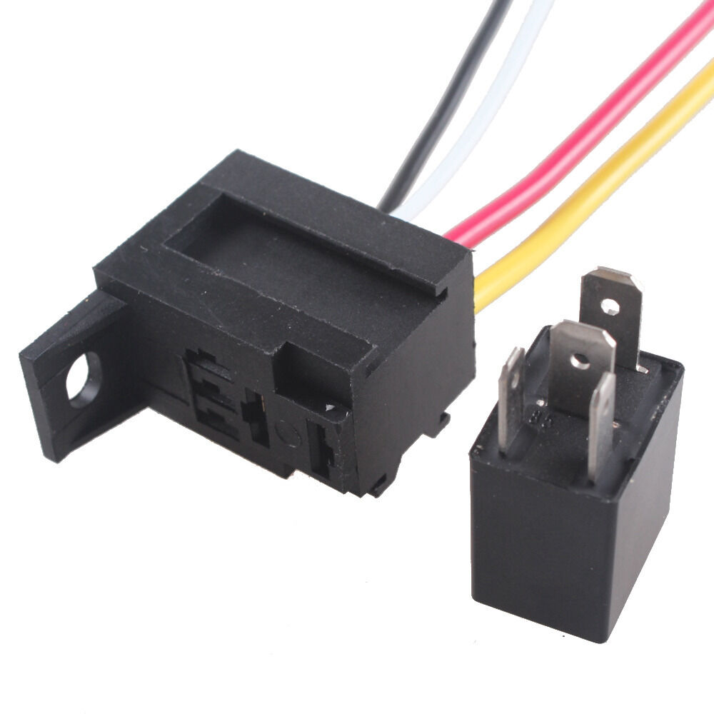 Car 30a Amp 12v Relay Kit Spst For Fan Fuel Pump Light Horn 4pin 4 Wire Sales