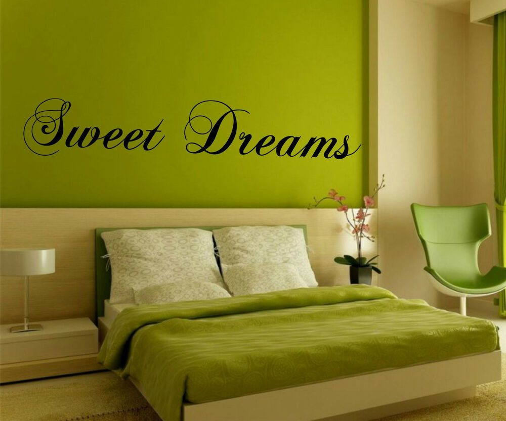 Sweet Dreams Wall Art Sticker - Decal Vinyl Transfer Quote ...