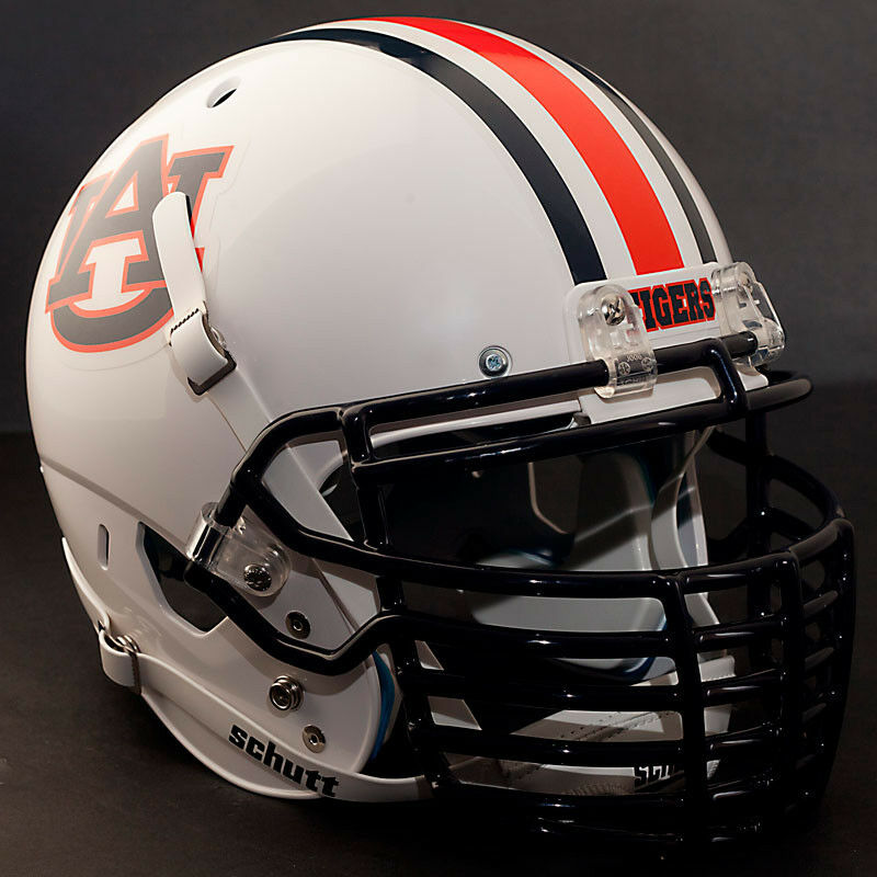 Football Helmet Grill : Custom auburn tigers schutt air xp authentic football