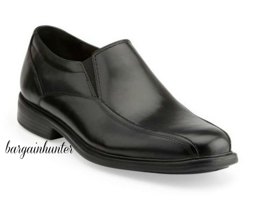new bostonian mens bolton black leather dress slip on