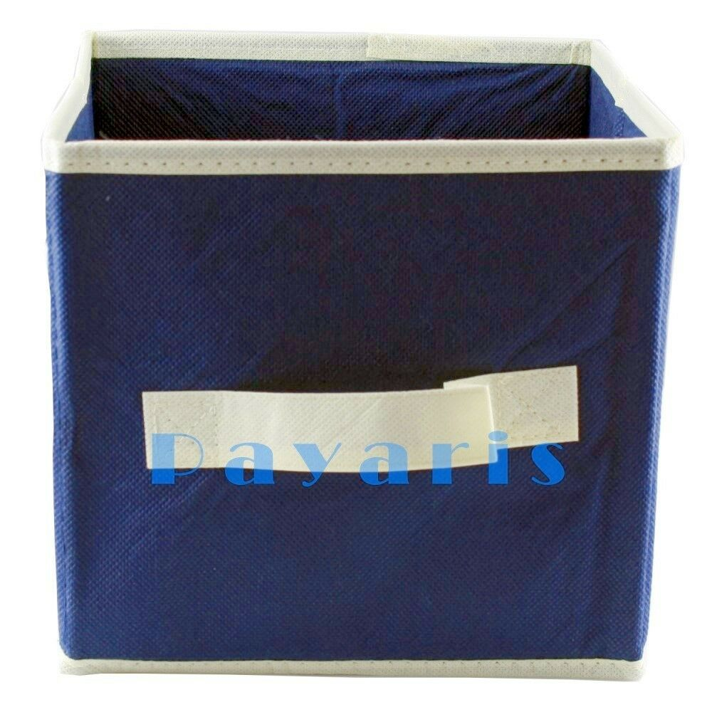 new collapsible cube storage container organizer fabric ebay. Black Bedroom Furniture Sets. Home Design Ideas
