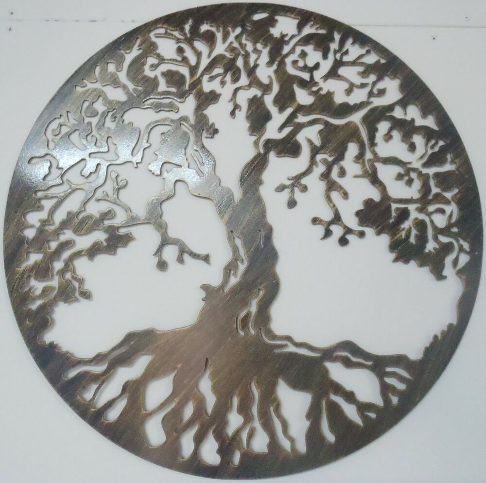 Tree of life metal art antique look wall decor ebay for Tree wall art