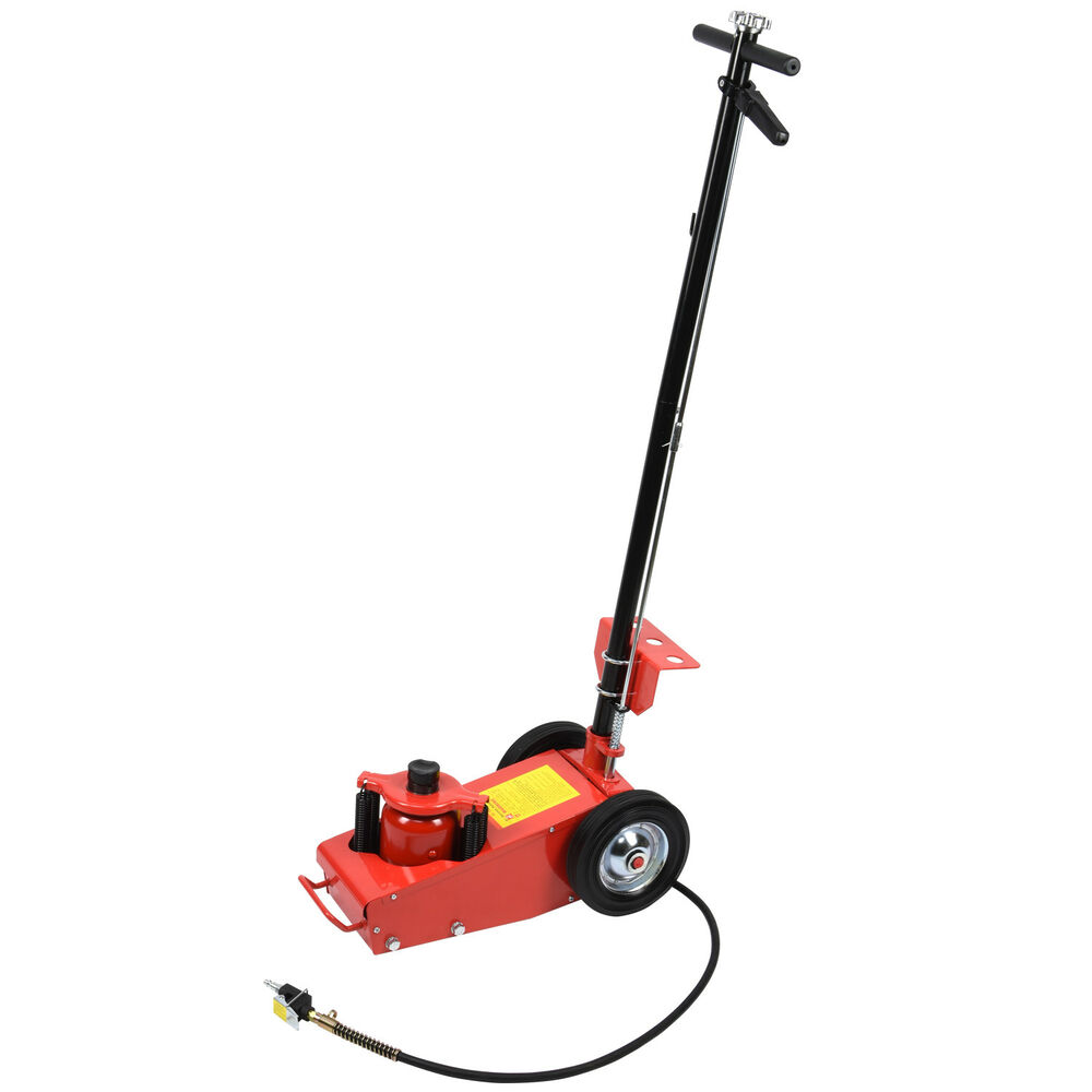22 Ton Air Hydraulic Floor Jack Lift W Wheel Auto Truck