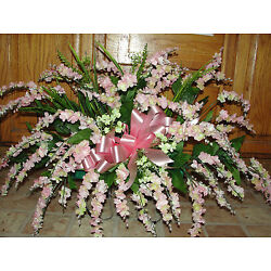 Kyпить Mothers Day Grave Memorial Flowers Pink Wisteria Vary Cemetery Tombstone Saddles на еВаy.соm