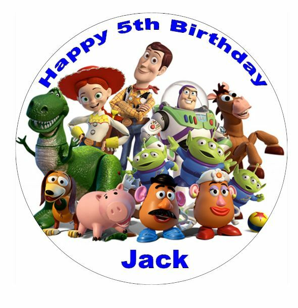 """Toy Story Personalised Cake Topper 7.5"""" Edible Wafer Paper ..."""