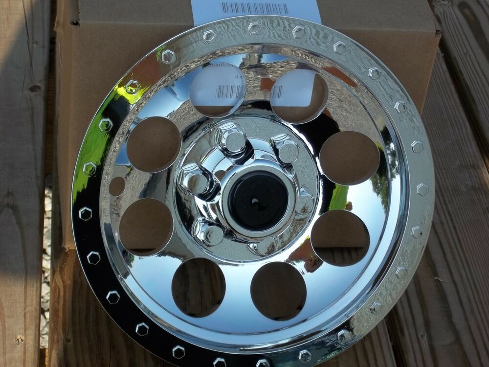 Atv Rims Wheel Covers : New set quot chrome wheel covers hubcaps atv utv kawasaki