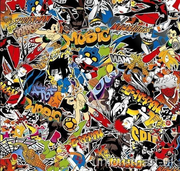 Stickerbomb air free bubble free vinyl wrap super heroes - Ou acheter stickers muraux ...