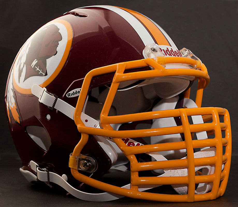 Football Helmet Grill : Washington redskins nfl riddell speed football helmet with