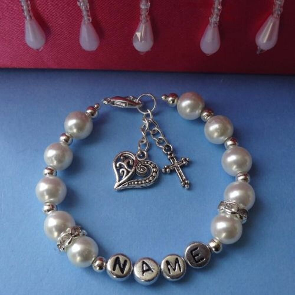 Girls Personalised Bracelet First Holy Communion