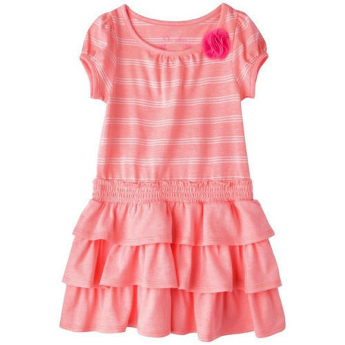 Cherokee Infant Toddler Girl Peach Knit Stripe Dress