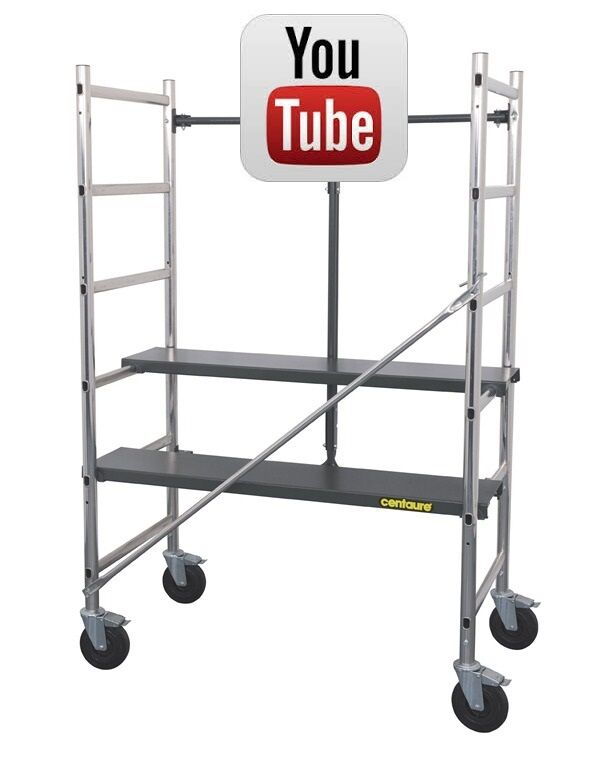Light Weight Scaffolding : Indoor mini folding scaffold tower platforms compact
