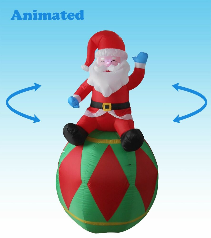 Animated christmas inflatable santa claus yard decoration for Animation decoration noel