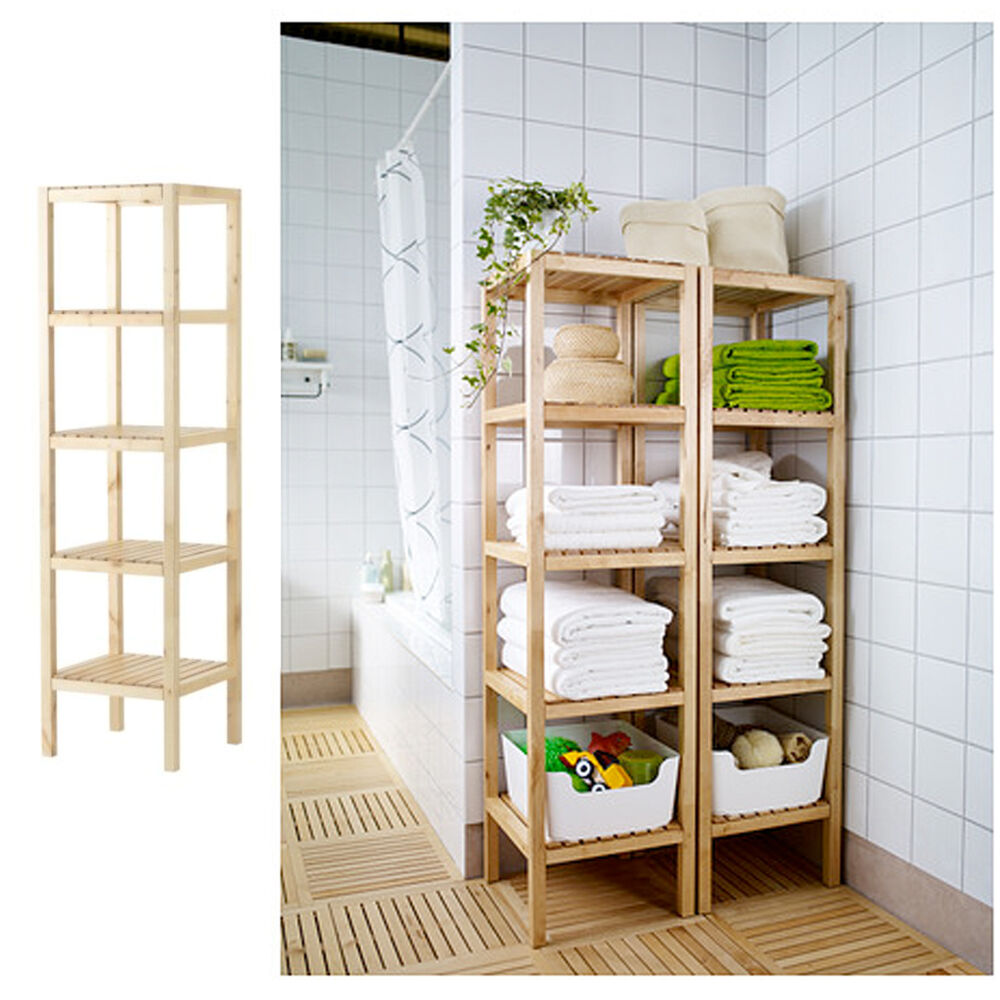 Ikea regal birke badregal standregal holzregal badm bel for Ikea regal lackieren