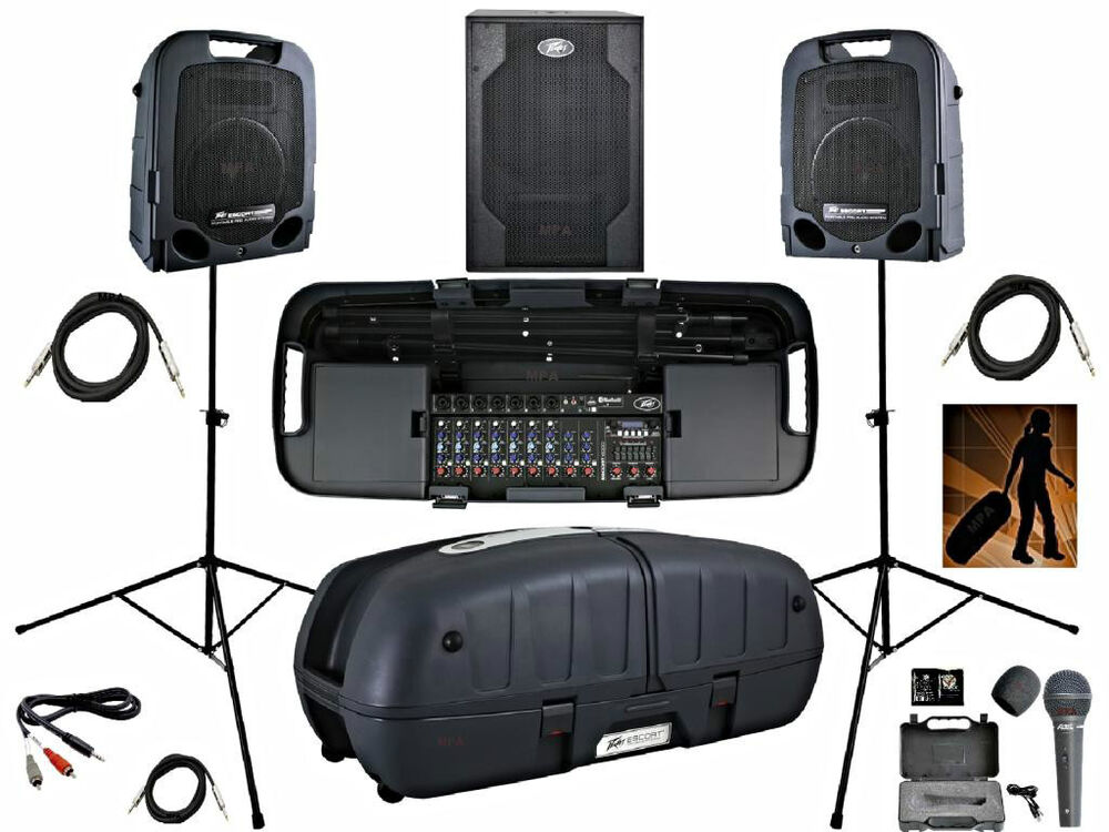 Dj System Pa System Peavey Escort 6000 Pvx Subwoofer Hotel
