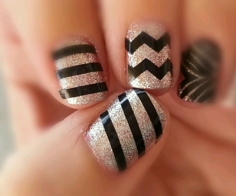 ... Lines or Zig Zag Chevron Nail Art Decal Buy 3 Get 1 Free | eBay