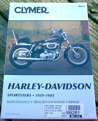 Clymer Repair Manual For Harley Ironhead Sportster Xl All