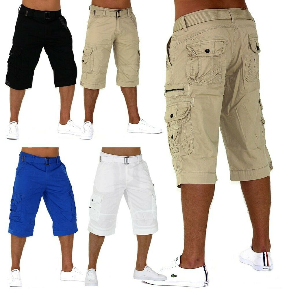 trendy herren capri adventure jeans bermuda cargo shorts kurze hose short camel ebay. Black Bedroom Furniture Sets. Home Design Ideas
