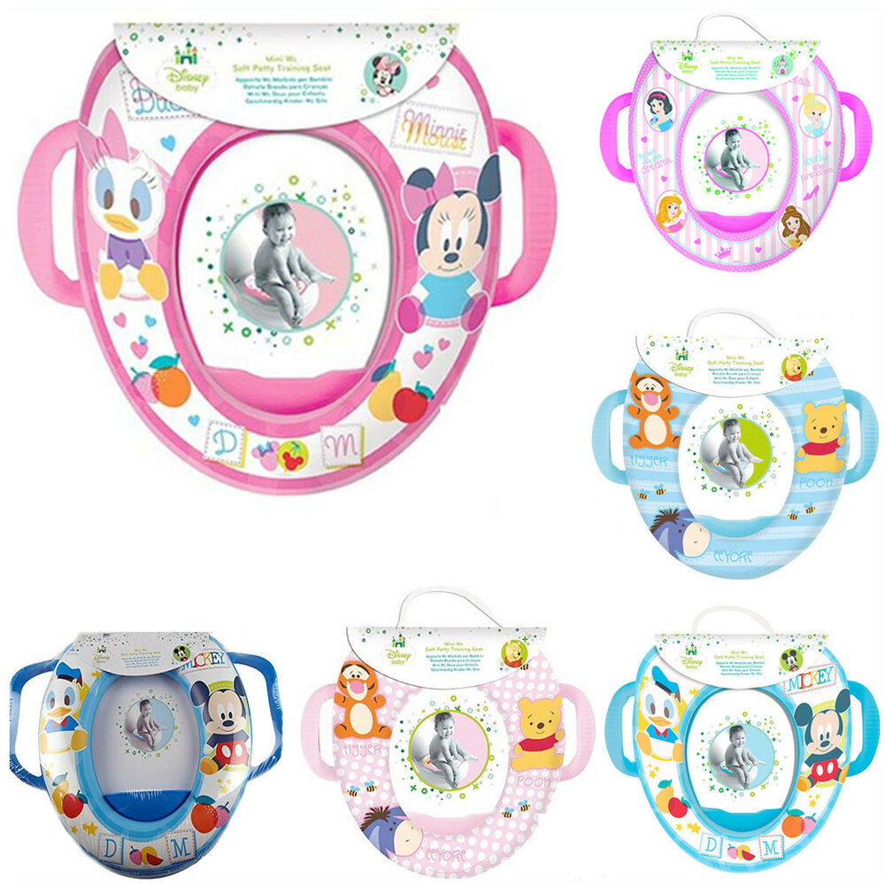 Toilet Seat Kids Potty Toddler Disney Soft Padded Chair