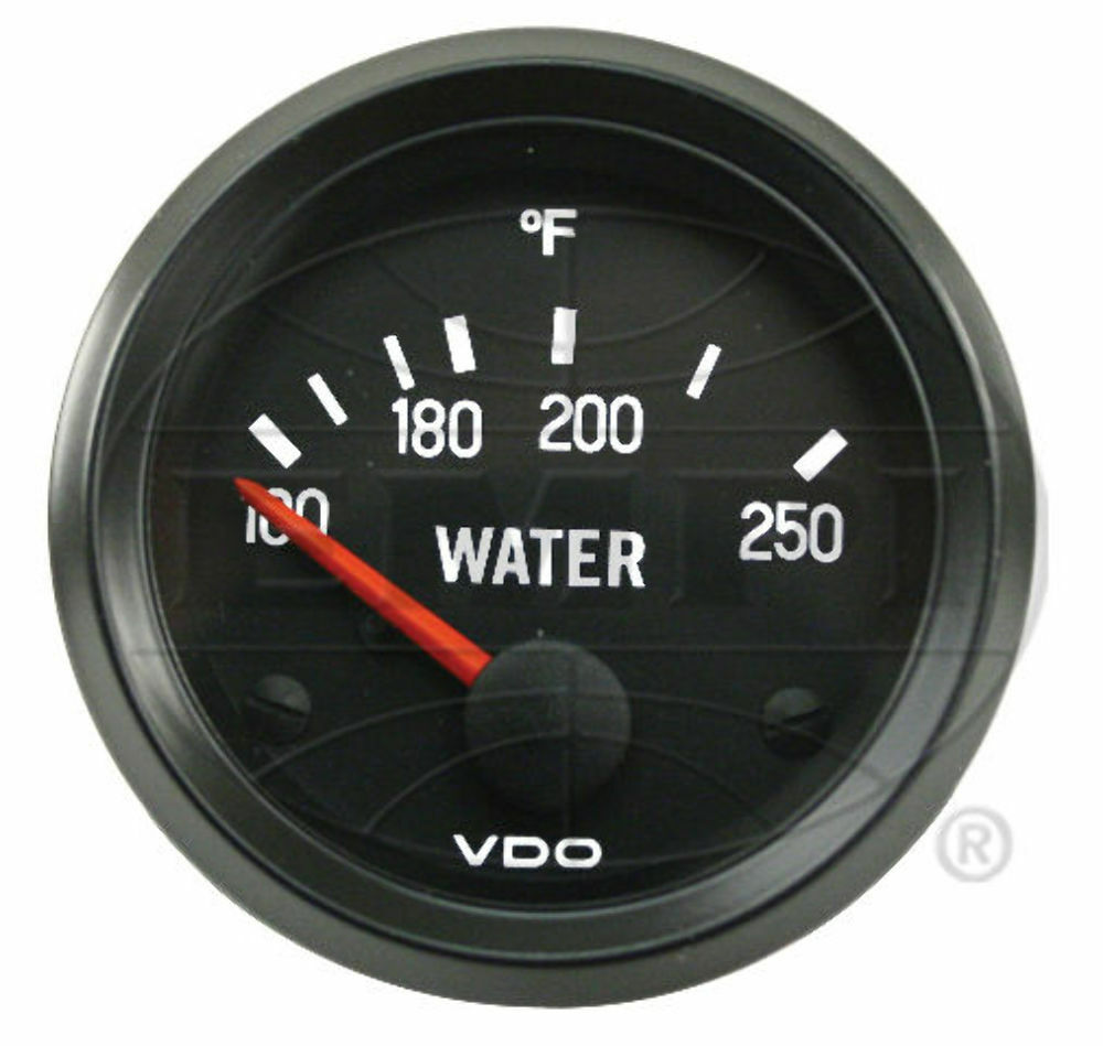 Vw Bug Air Cooled  Vdo Cockpit Water Temp Gauge 250 Degree