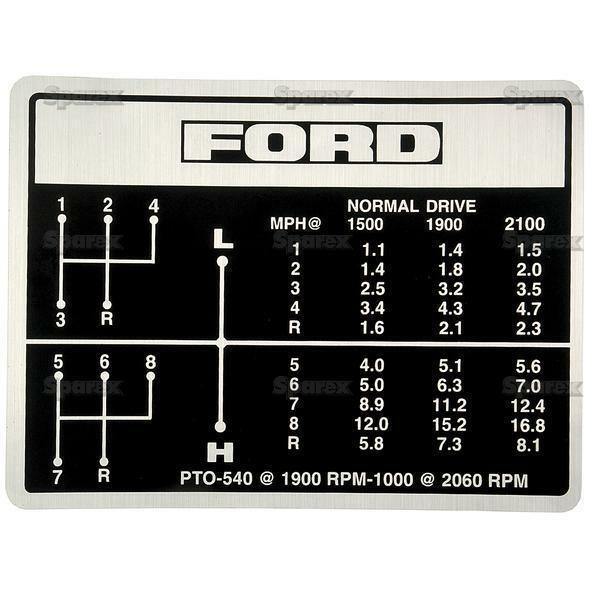 Ford 5000 Tractor Decals : Ford tractor shift pattern decal speed